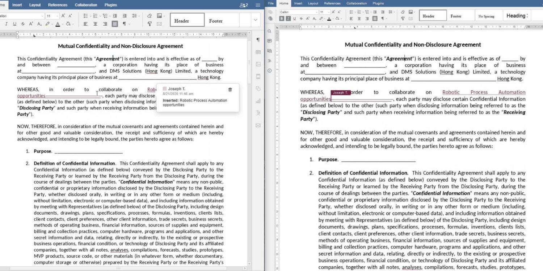 elDoc - Document Editing