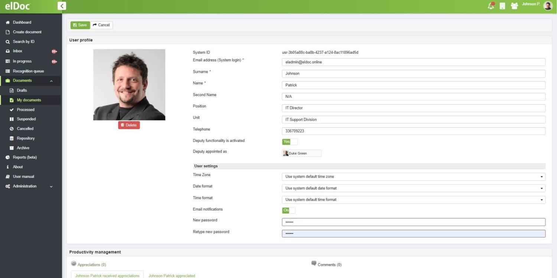 elDoc - User Profiles
