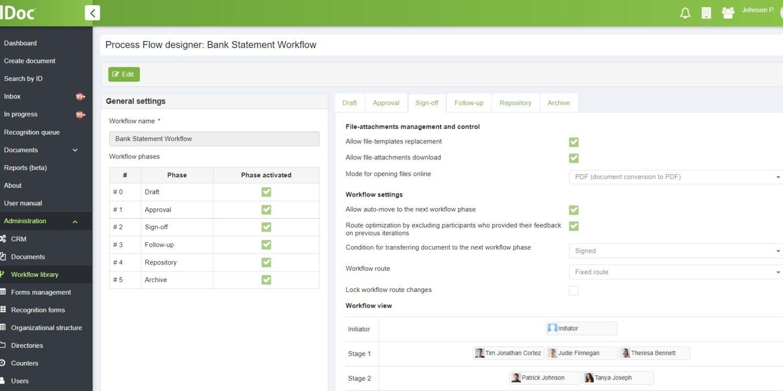 elDoc_Bank Statements_Workflow setup